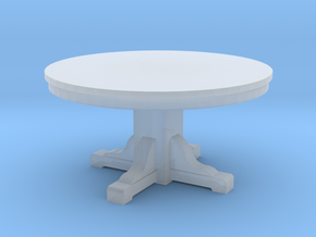 Miniature 1:48 Kitchen Table (4' Round) in Frosted Ultra Detail