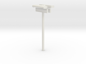 1/22,5 - DSB Stations (dobbelt) lampe med stations in White Strong & Flexible