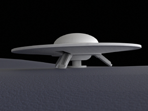 Flying saucer, 60 mm in White Natural Versatile Plastic