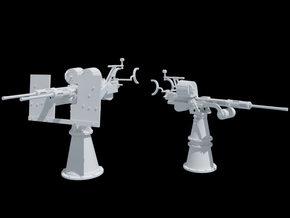 20mm Oerlikon and Twin 20 mm Oerlikon 1/35 Scale in Smooth Fine Detail Plastic