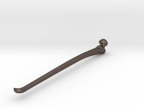Femur EarPick (001) in Polished Bronzed Silver Steel