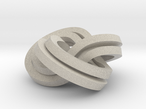 Torus Knot Knot (2,3),(3,2) in Natural Sandstone
