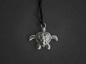 Honu Turtle in Polished Silver