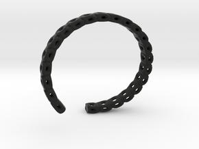 Concentric Cubes Wristlet in Black Natural Versatile Plastic
