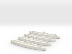 U-48 (Type VIIB U-Boat) 1/1800 x4 in White Natural Versatile Plastic