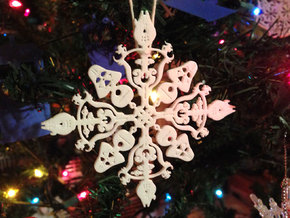 Star Wars Snowflake #1 in White Strong & Flexible Polished