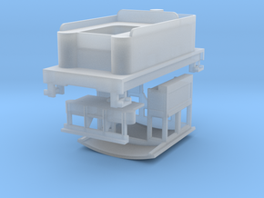 Parts for 4-4-0 conversion (cab,pilot,tender) A in Smooth Fine Detail Plastic