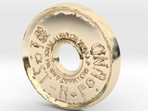 ZWOOKY Style 44 Sample - pendant donut in 14K Yellow Gold