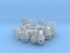 """Fire fitting set """"C"""" small  (1/24 scale) in Smooth Fine Detail Plastic"""
