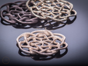Celtic Pendant in Polished Bronzed Silver Steel