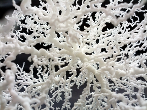 Spherical Dendrite, 2/50 in White Natural Versatile Plastic