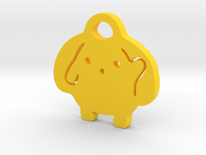Wooser Key Chain in Yellow Processed Versatile Plastic
