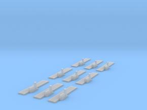 Airfields straight runways x9 in Smooth Fine Detail Plastic