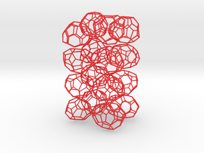 16 small chiral fullerenes (red) in Red Processed Versatile Plastic