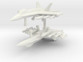 1/285 F-18C Hornet (Anti-Ship Loadout) (x2) in White Natural Versatile Plastic