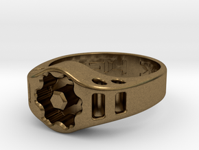 US14 Ring XIX: Tritium (Silver) in Natural Bronze