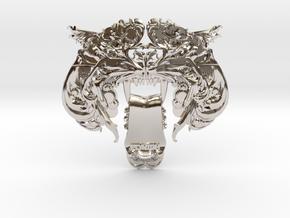 Tieger Clip in Platinum