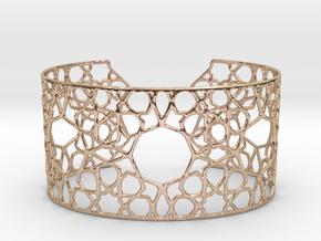 Silver Cairo Arab Bracelet in 14k Rose Gold