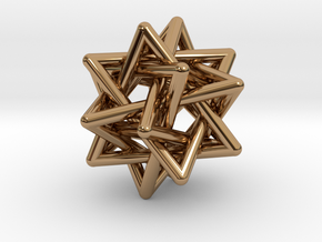 Merkaba Pendant in Polished Brass