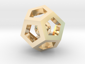 Dodecahedron Mini in 14K Yellow Gold