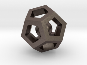 Dodecahedron Mini in Polished Bronzed Silver Steel