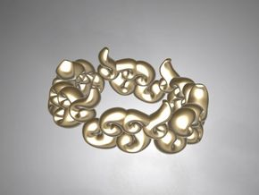 Six Clouds size:6.5-7 in Polished Gold Steel