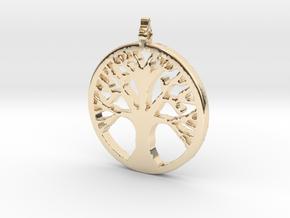 Tree Pendant in 14K Yellow Gold