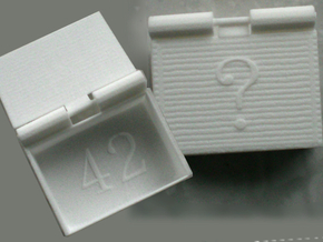 MeaningOfLifeBox in White Natural Versatile Plastic