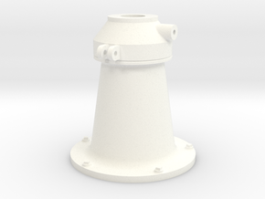 1:18 scale 20mm Cannon Pedestal in White Strong & Flexible Polished