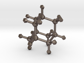 Adamantane in Polished Bronzed Silver Steel