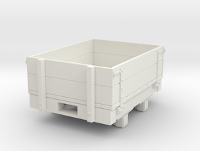 Gn15 small 4ft dropsided wagon in White Strong & Flexible