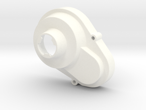 NIX66081 Gear cover for RC10 mid motor conversions in White Processed Versatile Plastic