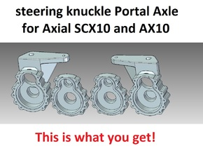 Portal Axle - Axial AX10, SCX10, steering knuckle  in White Natural Versatile Plastic