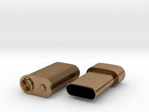 Spy lighter in Natural Brass