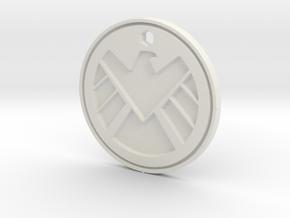 Shield Logo Necklace Replica in White Natural Versatile Plastic