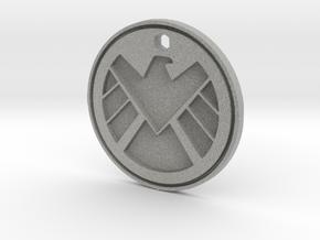 Shield Logo Necklace Replica in Metallic Plastic