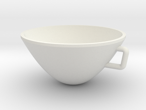 Parabolic Cup in White Natural Versatile Plastic
