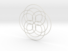Spirograph02 in White Strong & Flexible
