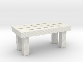 Great Rebellion Diorama Accessories - Wooden Table in White Natural Versatile Plastic