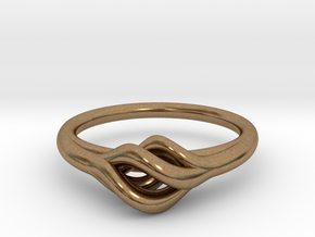 Twist Ring in Natural Brass
