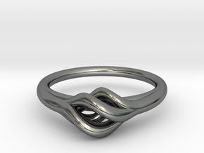 Twist Ring in Premium Silver