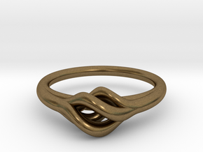 Twist Ring in Natural Bronze