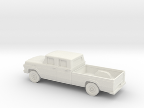 1/87 1959 Ford F250 Crew Cab in White Natural Versatile Plastic