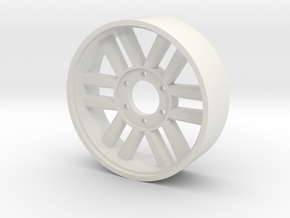 BP8 rear wheel for foam tires OtO in White Natural Versatile Plastic