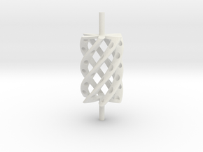 Twist Roller4hollo-r in White Natural Versatile Plastic