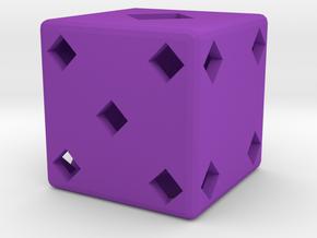 Dice103 in Purple Processed Versatile Plastic