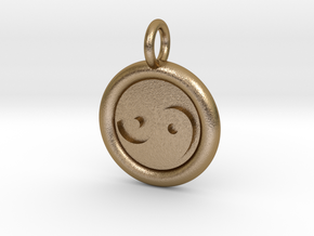 Tau and Tao Unit(cm) Pendant in Polished Gold Steel
