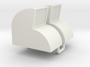 Vosper Aft Vents 1/35 Scale. For Italieri Vosper. in White Natural Versatile Plastic