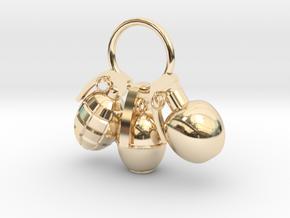 Hand grenade in 14K Yellow Gold
