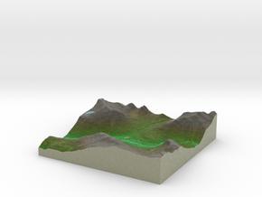 Terrafab generated model Thu Dec 25 2014 17:38:00  in Full Color Sandstone